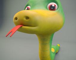 3D model Cartoon Snake