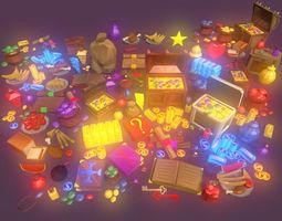 Low Poly Fantasy Loot Full Packs 3D asset