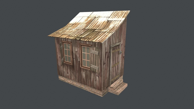 little house  shed  3d model low-poly fbx 1