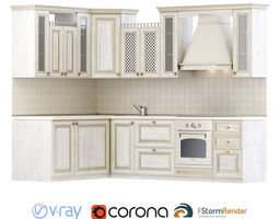 3D Set for creating a classic kitchen set