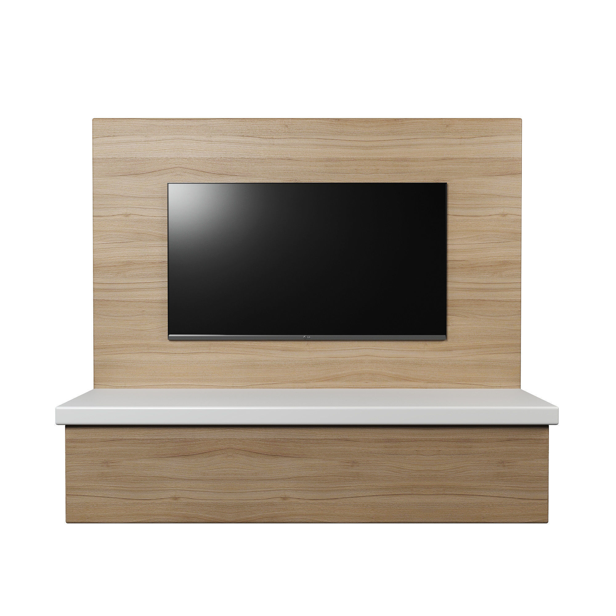 Good ... Tv Wall Panel With A Flat Screen Tv 3d Model Low Poly Obj Mtl 3ds ...