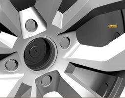 VW - Wheel with Cap cover 3D