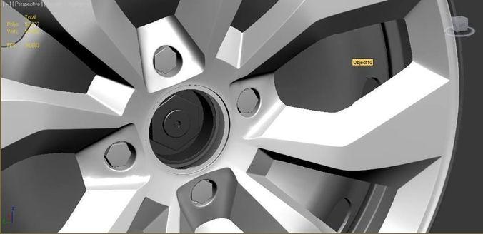vw - wheel with cap cover 3d model max obj mtl 1