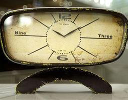 Kare Table Clock Cucina Iron 45cm 3D Model