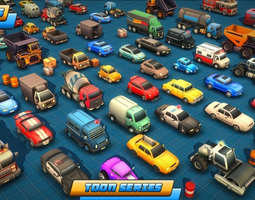 3D asset Toon Vehicles