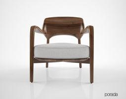 3D model Porada Louis chair
