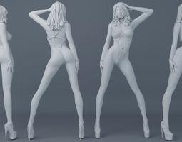 Belt girl 001 3D print model