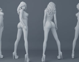 Belt girl 003 3D printable model