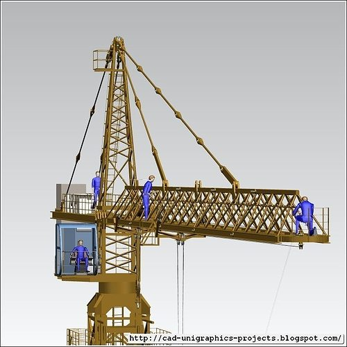 Tower Crane Design : Tower crane assembly d model cgtrader