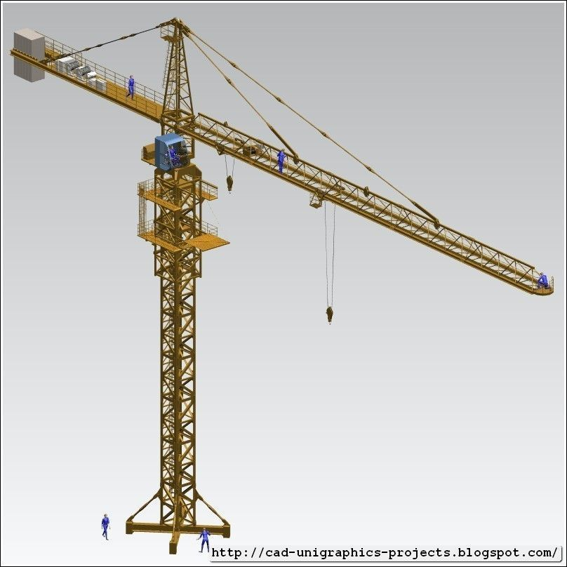 Tower Crane Self Assembly : Tower crane assembly free d model stl cgtrader