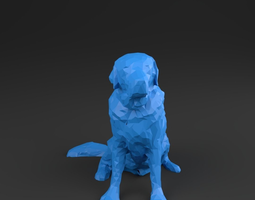 Dog 01 - LowPoly - 3D scanned printable 3D VR / AR ready