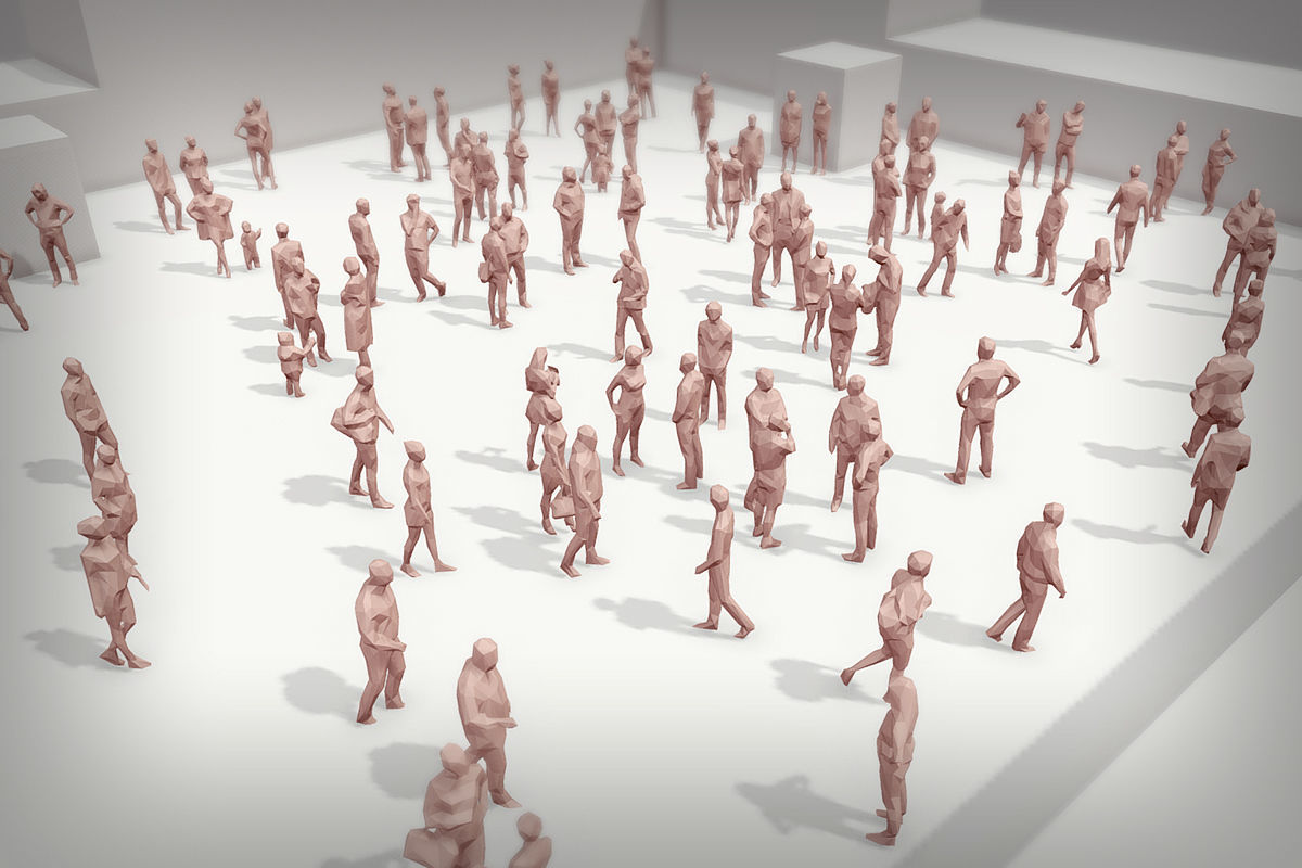 Lowpoly People Crowd