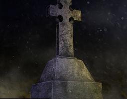 Tombstone Cross 3D