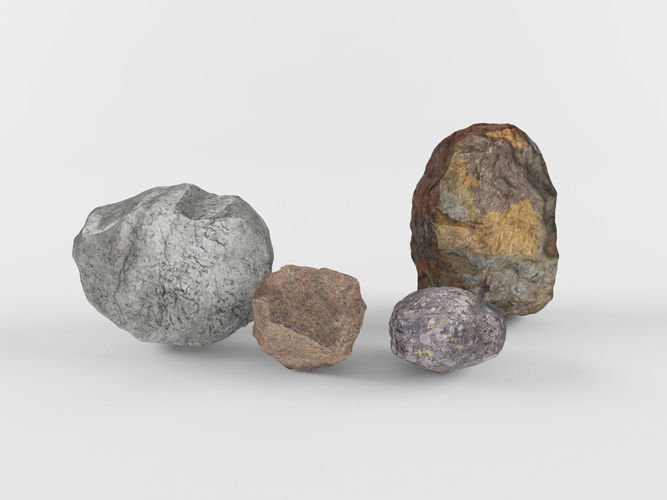 stones rock 3d model max obj mtl fbx 1
