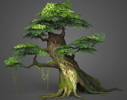 3D model Game Ready Low Poly Tree 05