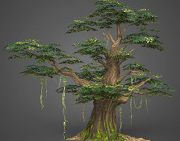 3D model Game Ready Low Poly Tree 09