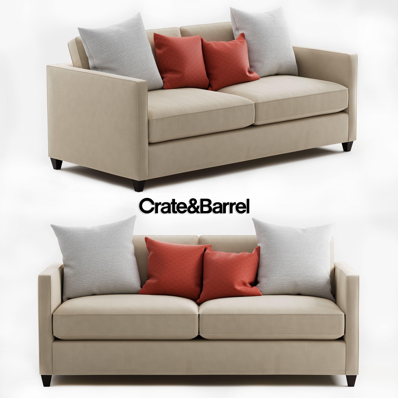 Crate And Barrel Dryden Apartment Sofa Model Max Fbx 1