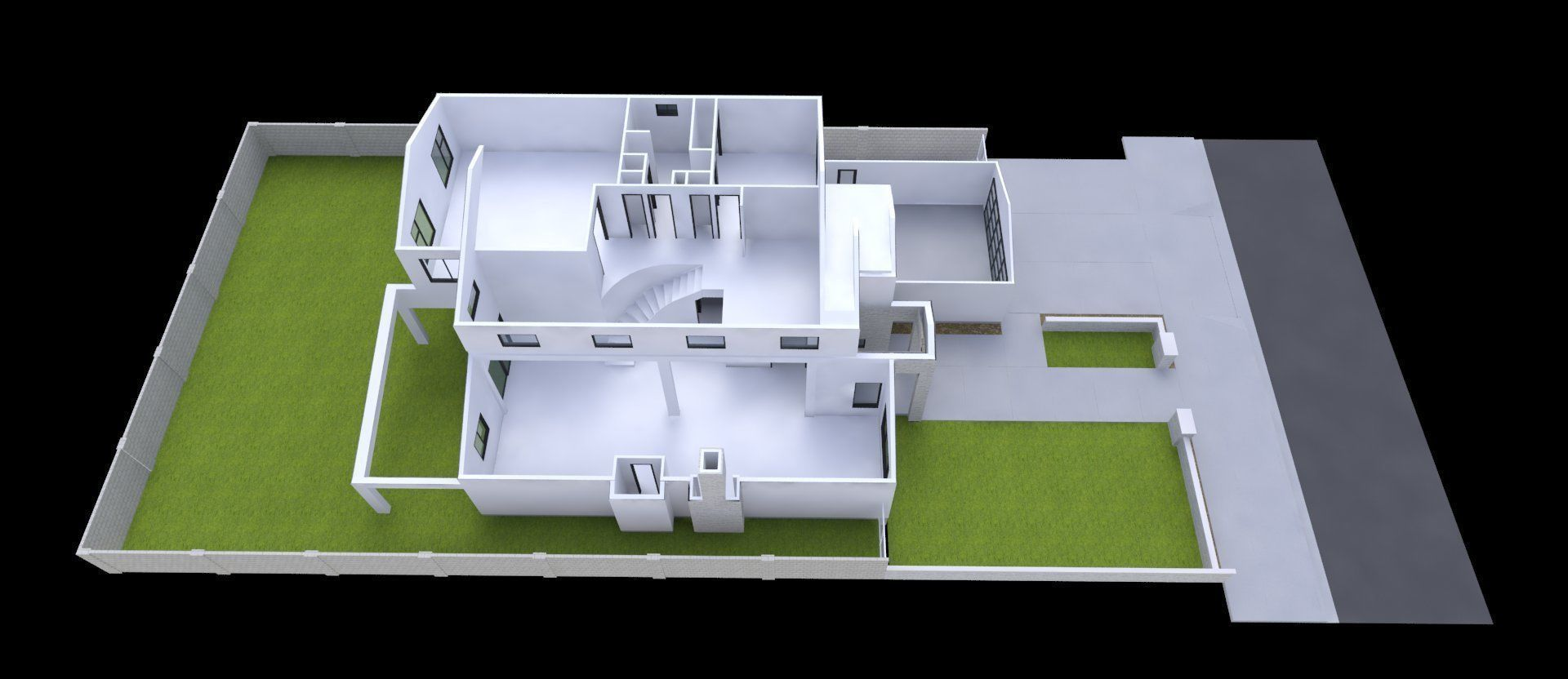 modern house 2 story 4 bedrooms