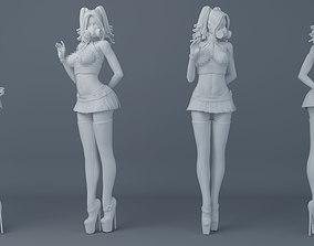 Gothic-style girls wear short 3D printable model 1