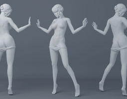 Off pants girls 3D print model