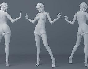 Off pants girls 3D print model