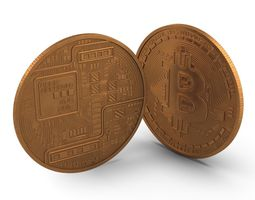 Bitcoin copper 3D