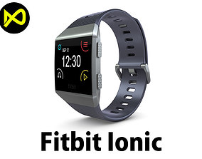 Fitbit Ionic Blue Gray 3D