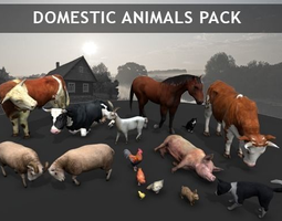 3D model Domestic Animals pack