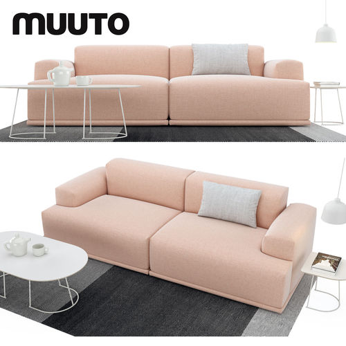 sofa set 3d model max obj mtl 1