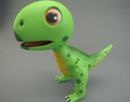 3D asset low-poly Cartoon Dinosaur