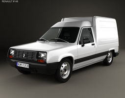 Renault Express with HQ interior 1985 3D