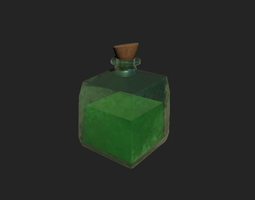 RPG Health-Mana-Stamina Realistic Potion 3D asset