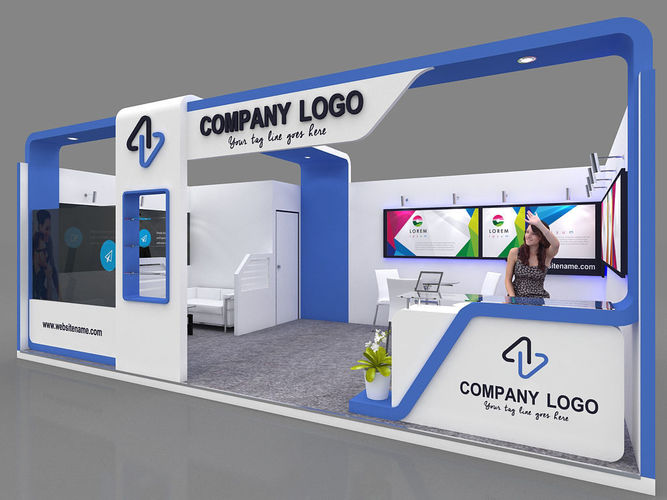 Exhibition Stall Price : Exhibition stall d model mtr side open