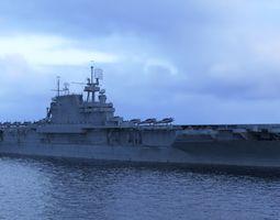 3D asset USS Enterprise CV-6