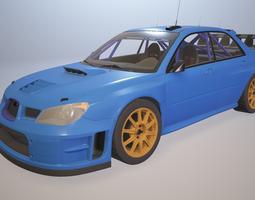 compact Subaru Impreza STi WRC 3D model