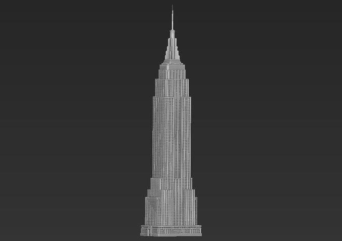 empire state building 3d printable 3d model obj mtl stl 1