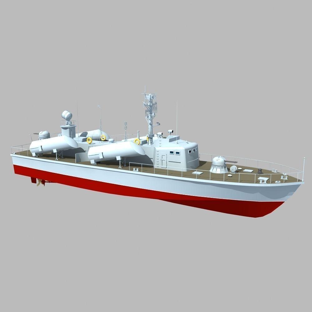 Russian Osa Class Missile Boat 3d Model Max Obj Fbx