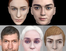 3D Game of Thrones pack Daenerys Cersei Arya Jamie Sansa
