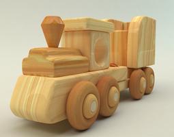 3D model wooden toy train