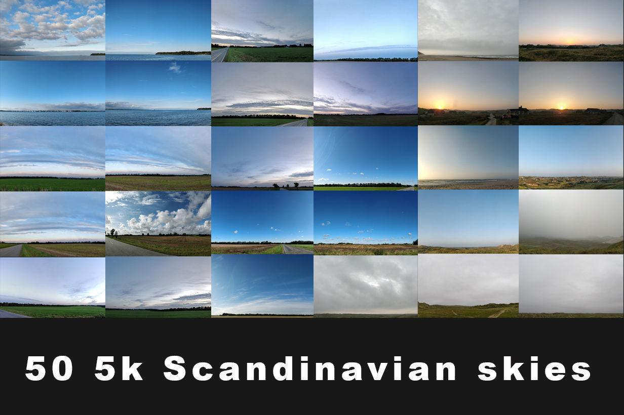 50 5K Scandinavian Skies background