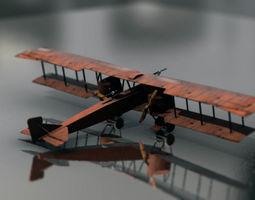Battlefield 1 Bomber Airplane Gota World War I 3D model