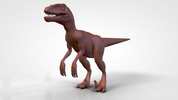 Velociraptor base mesh ready for sculpting3D model