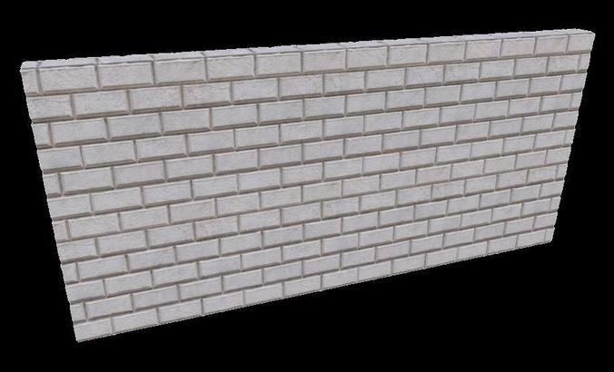 vray - stone wall facade material 3d model  1