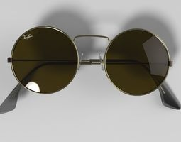 Sunglasses round 1 3D asset