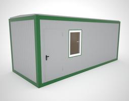 Modular cabin for construction 3D model