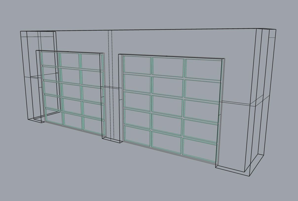 3d model modern glass panel garage door for residential 1 modern glass panel garage door for residential house 3d model obj 3ds 3dm dwg skp 3 planetlyrics Image collections