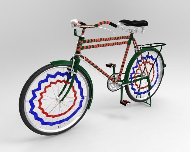 old bicycle 3d model obj mtl 3ds fbx c4d ma mb stl 1