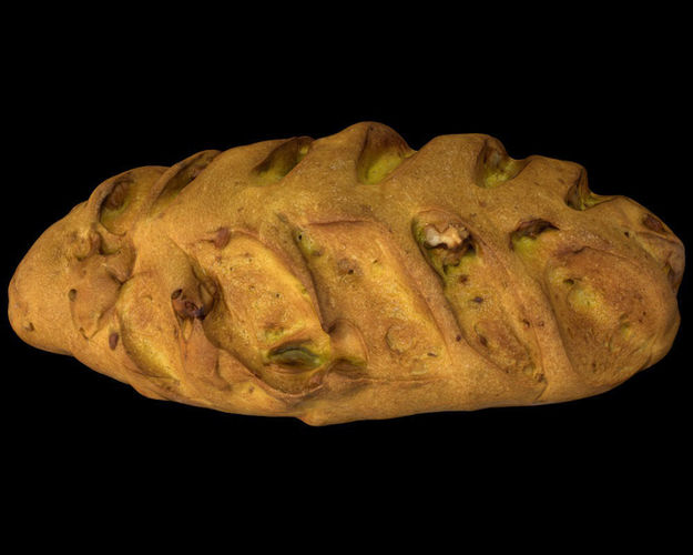 wallnut bread - pbr 3d model low-poly obj mtl 3ds fbx 1
