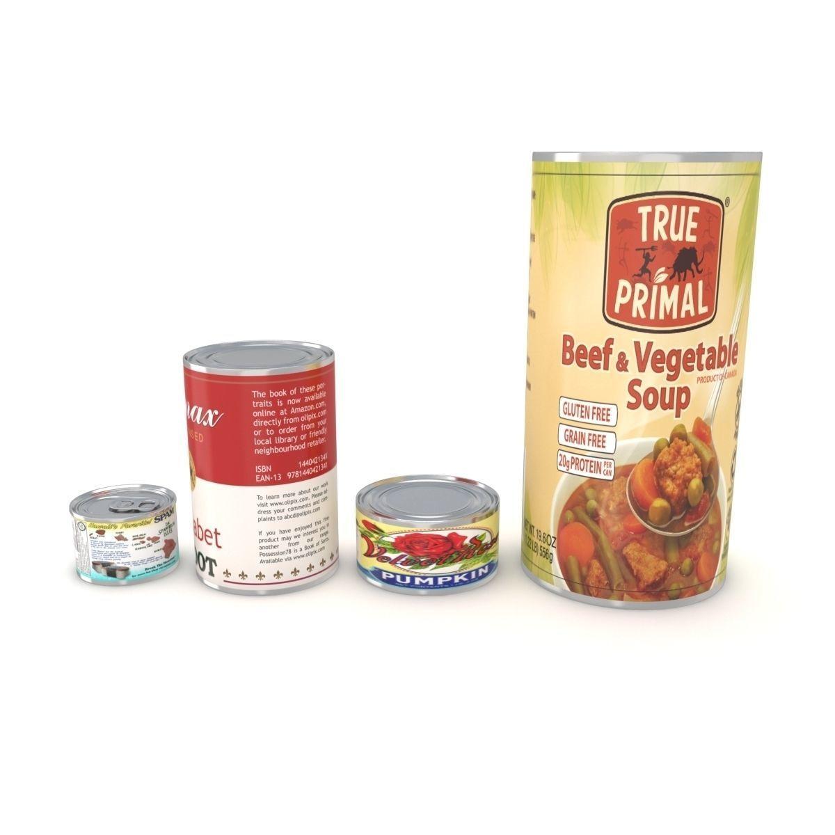Canned Food Set | 3D model