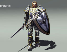 3D asset Royal Knight